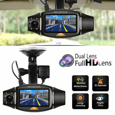 NEW GPS HD Dual Lens 140° Dash Cam Car DVR Video Recorder Camera Front and Rear
