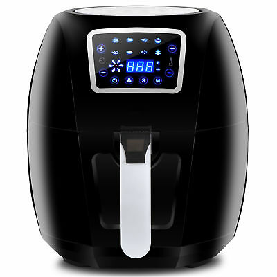 USED 1700W Large Deep Air Fryer LCD Display Temperature Control 6.3Qt 8 Presets