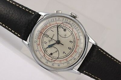 Regines vintage chronograph! Stunning! Monopusher from 1930s. 37mm case!