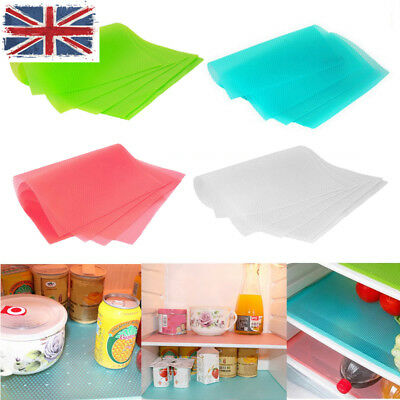 UK HQ Easy Clean Kitchen Antibacterial Cabinet Pad Anti Slip Fridge Liner Mat JD