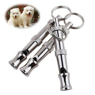 3Pcs Pet Dog Whistle Adjustable Sound Keychain Keyring Puppy Training Collie Hot