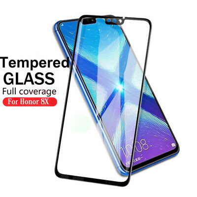 For Huawei Honor 8X Tempered Glass Screen Protector Ultra Clear Full Cover Film
