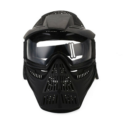 Full Face Mask Hunting CSTactical Airsoft Paintball PC Lens Protective new AU