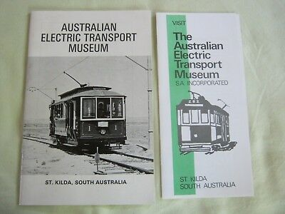 AUSTRALIAN ELECTRIC TRANSPORT MUSEUM. TRAMS  Sth.Aust. Information Book&Tickets