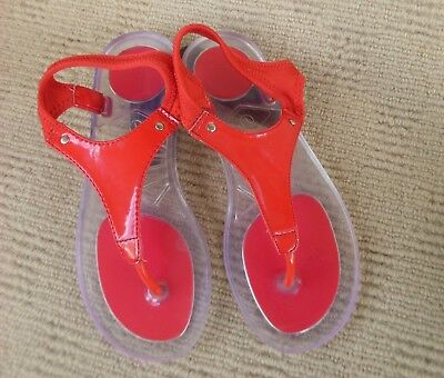 Great Diana Ferrari Red Sandals, Size 7