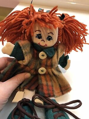 Soft Irish Dancing Girl Plush Doll. Sweet.  Rag Doll. Collect Or Post