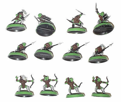 Games Workshop LOTR Goblin Warriors & Archer x 12 model figure Lord of the Rings