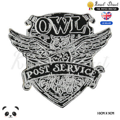 Harry Potter OWL Post Service Embroidered Iron On Sew On PatchBadge