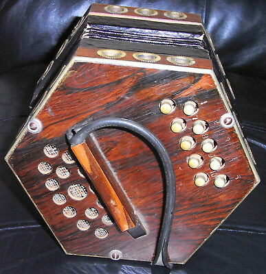 Antique Germany 20th Century Concertina 20 Buttons.)JANUARY SALE PRICE