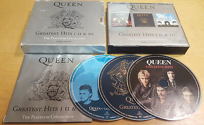 Queen Greatest Hits The Platinum Collection 3-Disc Cd Box Set With Free Uk P&P