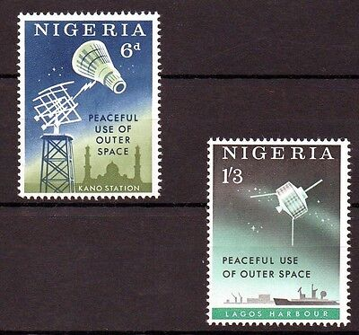 Nigeria 1963 Peaceful use of Outer Space MNH set
