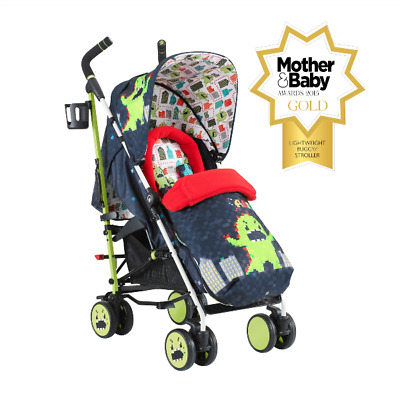 New Cosatto Supa Pushchair Stroller Monster Arcade 2 birth + with footmuff & R/C