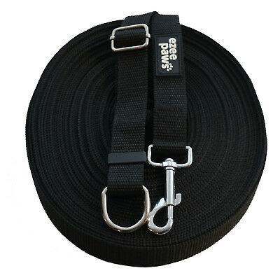 Ezee Paws Dog Training Lead 15M /50ft Long with Recall Training Guide