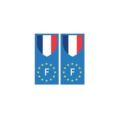 France europe drapeau Autocollant -  Angles : droits