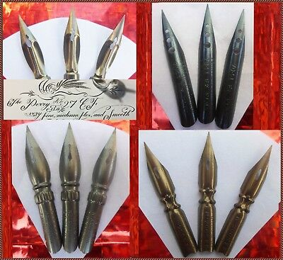 3 vintage Perry & Co nibs:  27 EF, 335 EF, 2005 EF, 7041 EF