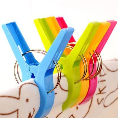 4Pcs Big Beach Towel Laundry Wash Hanging Clips Pegs Spring Clothes-Pins