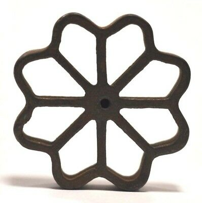 Vintage Cast Iron ROSETTE FLOWER cookie Patty Mold GRISWOLD
