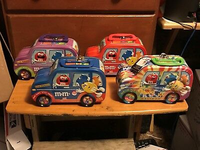 Lot Of 4 M&m's Minivan Tins