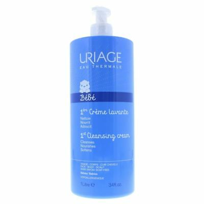 Uriage Foaming And Cleansing Soap-Free Cream 1000ml Babies Face Body Scalp