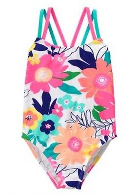 NWT Gymboree Girl Swim Shop Tropical Flower 1-Piece Swimsuit 4 5 6 7 8 10 12