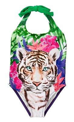 NWT Gymboree Girl Swim Shop Violet Tiger 1-Piece Swimsuit 4 5 6 7 8 10 12