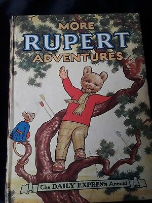 More Rupert adventures 1954?  Vintage Original price unclipped