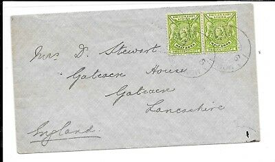 Kenya Qv 1 Anna Rate Cover To Uk