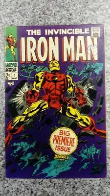 Invincible IRON MAN #1 1968 FN Number 1 MARVEL Comics SILVER AGE Nice copy