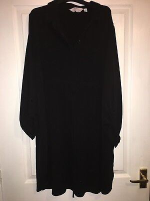 Size 16 maternity Shirt Dress - Black Dorothy perkins