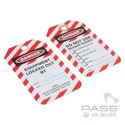 Lockout Tagout Tags - 'Do Not Use...' - Pack of 10