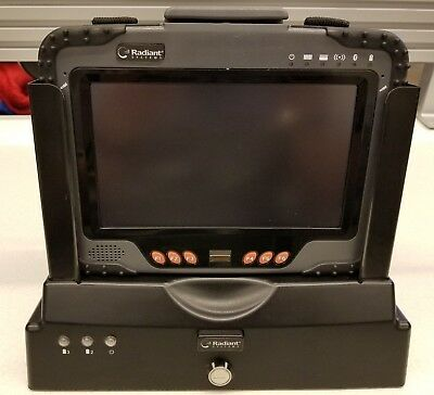 Radiant Systems DLI 8800 Rugged Touchscreen Tablet w/ Cradle Charger & Stylus