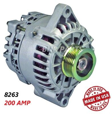 200 AMP 8263 Alternator Ford Mercury Taurus Sable High Output Performance HD NEW