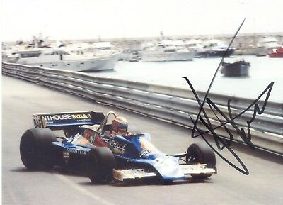 RUPERT KEEGAN HAND-SIGNED COLOUR PHOTO - 1970's F1 HESKETH, SURTEES, MARCH etc