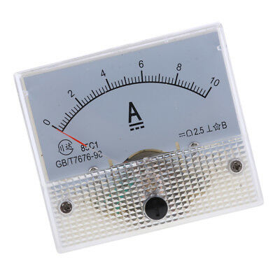 10A, 85C1, DC 0-10A Analog Amp Meter Ammeter Current Panel Directly Connect