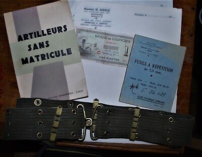 Guerre d' Indochine militaria documents