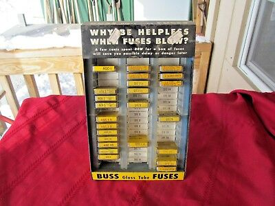 Vintage Buss Glass Tube Fuses Display