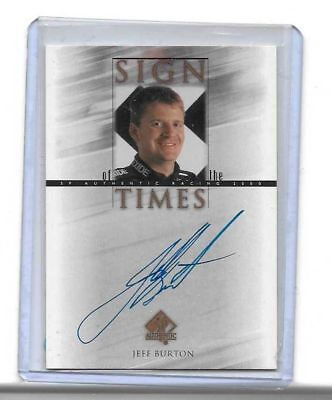 2000 Upper Deck SP Authentic Sign Of The Times Jeff Burton BV$$$ MUST SEE!