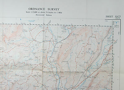 1952 old vintage OS Ordnance Survey 1:25000 First Series Map SN 73 Llandovery