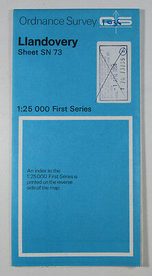 1976 old vintage OS Ordnance Survey 1:25000 First Series Map SN 73 Llandovery