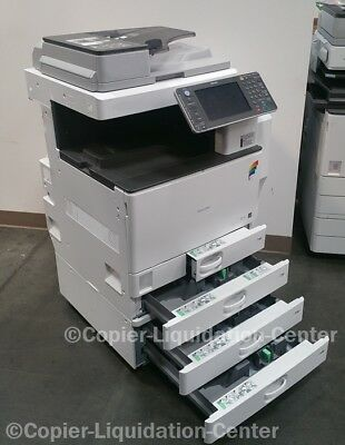 Ricoh Aficio MP C3002 Color Tabloid Copier Print Scan Duplex USB 30 PPM vq