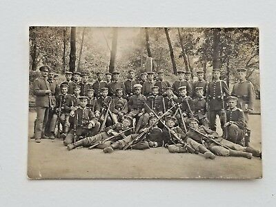 WW1 RPPC Postcard German Soldiers Group Photo With Rifles - Vintage