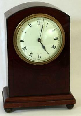 Antique French 8 Day Mahogany And Boxwood Stringing Mantle Clock