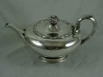 SMART GEORGE IV solid silver TEA POT, 1828, 845gm