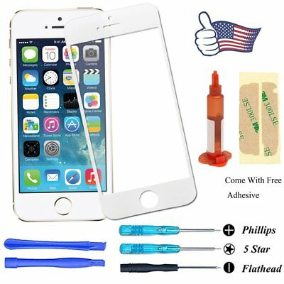 Front Screen Glass Lens Replacement Repair Tool Glue For Apple iPhone 5/5S White