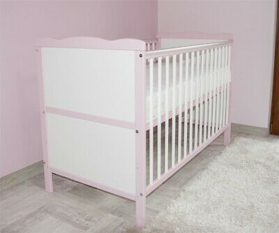 Wooden Baby Cot Bed 3x1Converts to Junior Bed  Mattress Free