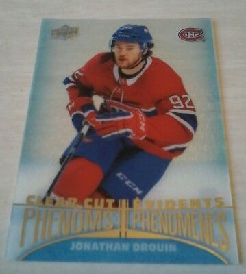2018-19 Jonathan Drouin Acetate  Tim Hortons Clear Cut Phenoms Sp Upper Deck Ud