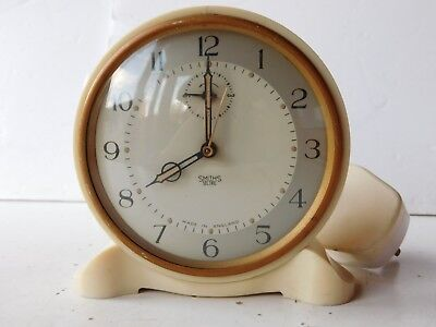 Smiths Sectric Cream Bakelite Art Deco Alarm Clock FOR PARTS OR NOT WORKING