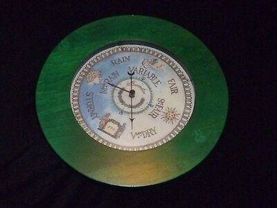 Green Wood Barometer With Water Color Face By ZIR