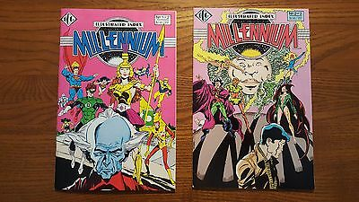 Illustrated Index Millennium #1 2 Complete Set Icg Dc Comics Limited Series