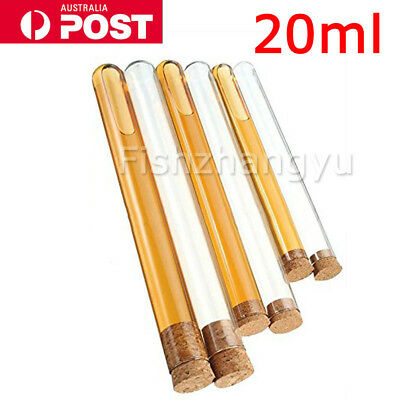 20ML Volume 10/50PCS Plastic Test Tubes With Cork Stopper Candy Party Wedding OZ